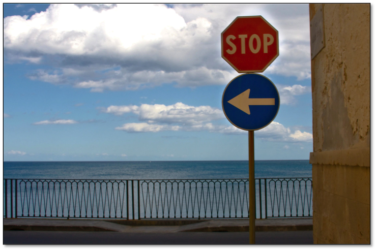 Stop sign in Siracusa, Sicily