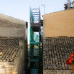 Scaffolding on a Sicilian House, Copyright Jann Huizenga