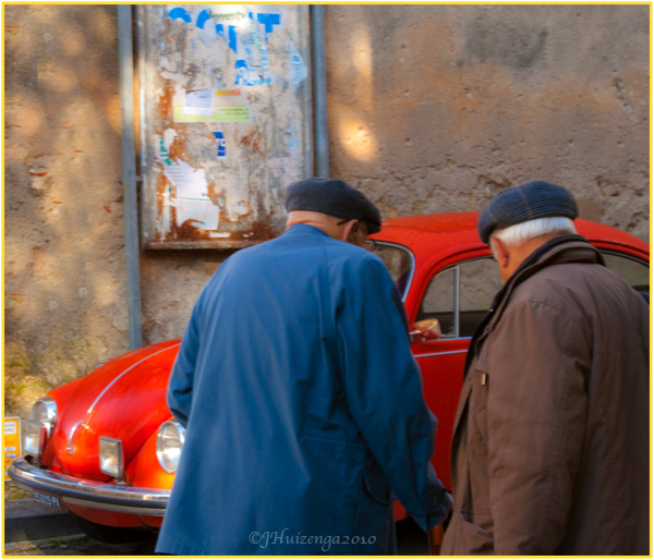 Men Wearing Sicilian Hats, Copyright Jann Huizenga 2010