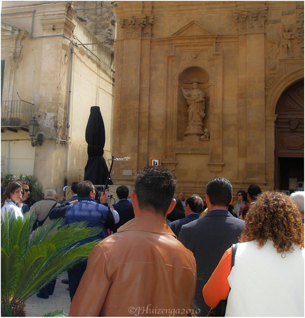 Black Madonna in Modica on Easter Morning, Sicily, copyright Jann Huizenga