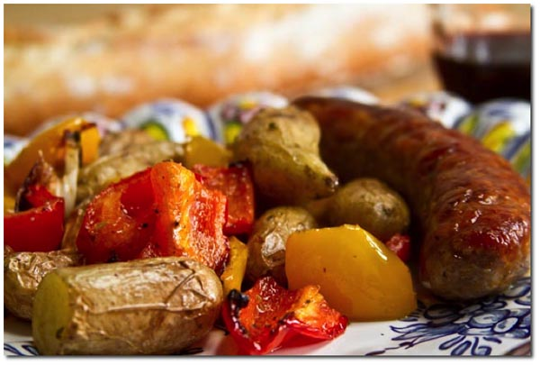 Roasted Sausage, Potatoes And Peppers Recipes — Dishmaps