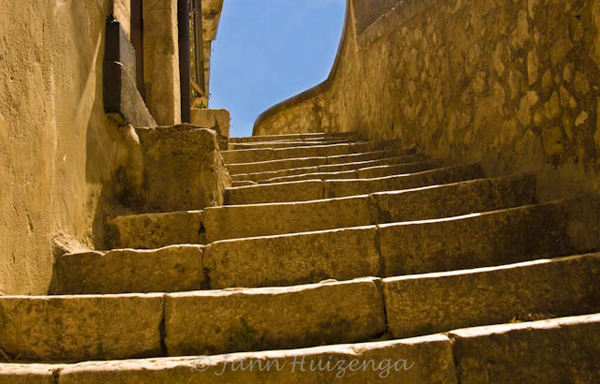 Staircase in Southeast Sicily, copyright Jann Huizenga