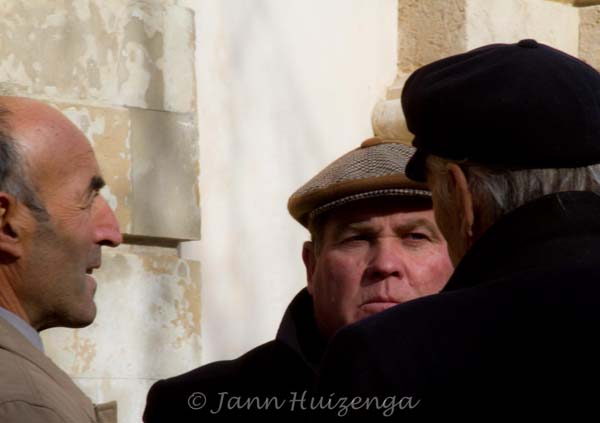 Three Men in Southeast Sicily, copyright Jann Huizenga