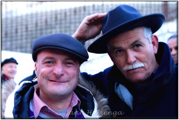Men's Hats in Sicily, copyright Jann Huizenga