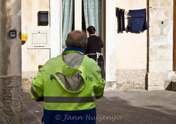 Village Scene in Southeast Sicily, copyright Jann Huizenga