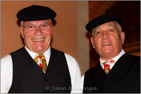 Sicilian Men in Coppole, copyright Jann Huizenga