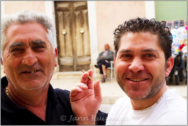 Two Men in Acate, Sicily, copyright Jann Huizenga