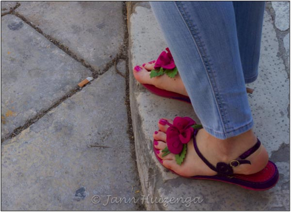Beautiful Summer Feet in Sicily, copyright Jann Huizenga