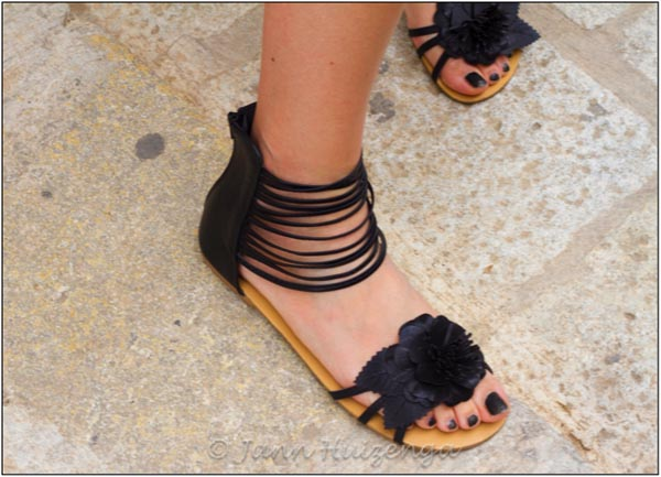 Pretty Italian Summer Feet, copyright Jann Huizenga