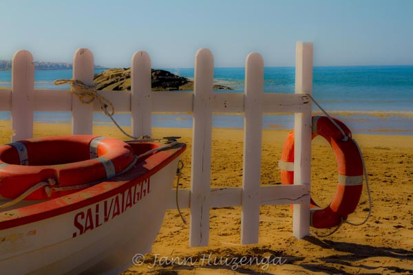 Morning at the Beach in Southeast Sicily, copyright Jann Huizenga