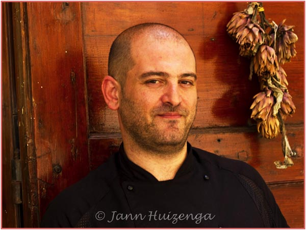 Chef Andrew Pace at Salvino's in Valletta, Malta, copyright jann Huizenga