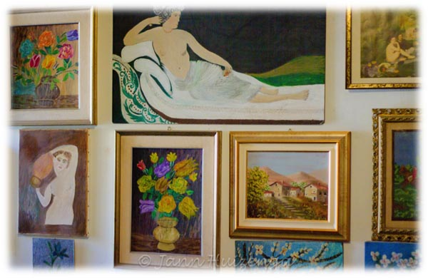 Paintings by Sicilian Woman, copyright Jann  Huizenga