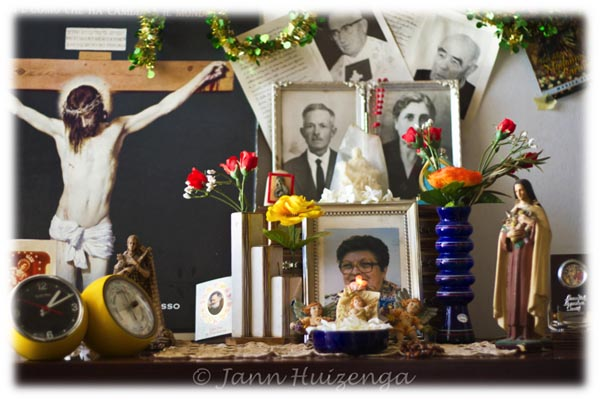 Ancestor Shrine at Home in Sicily, copyright Jann Huizenga