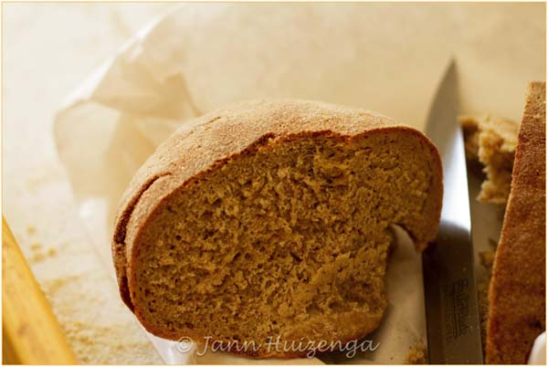 Brown bread baked in Sicily, copyright Jann Huizenga