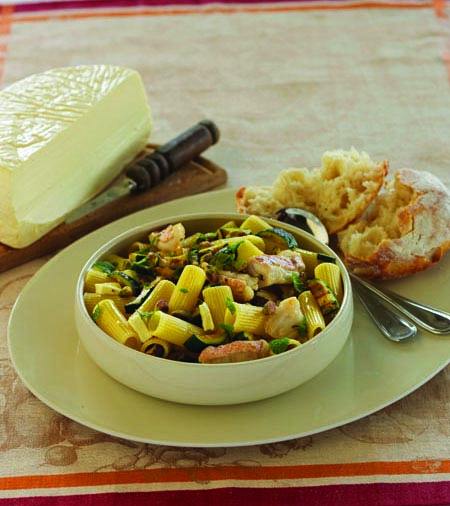 Pasta with Swordfish and Mint from Sicilian Seafood Cooking