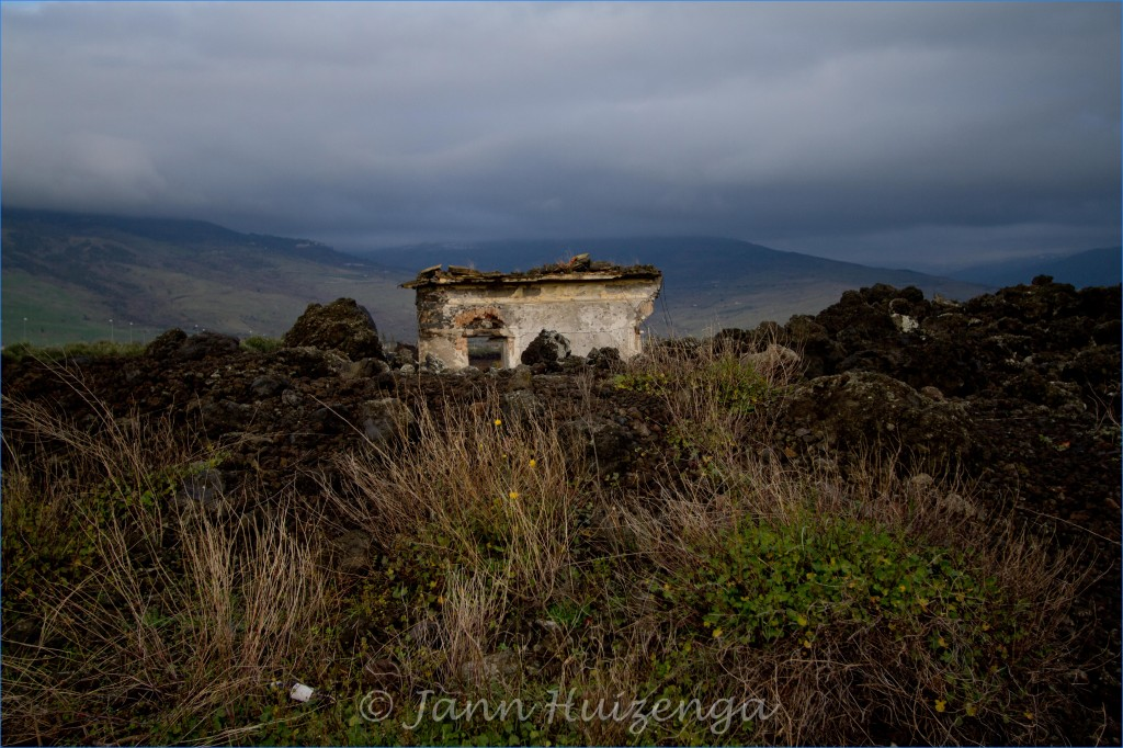 Ruined House in Lava Field on Mount Etna, Sicily, copyright Jann Huizenga