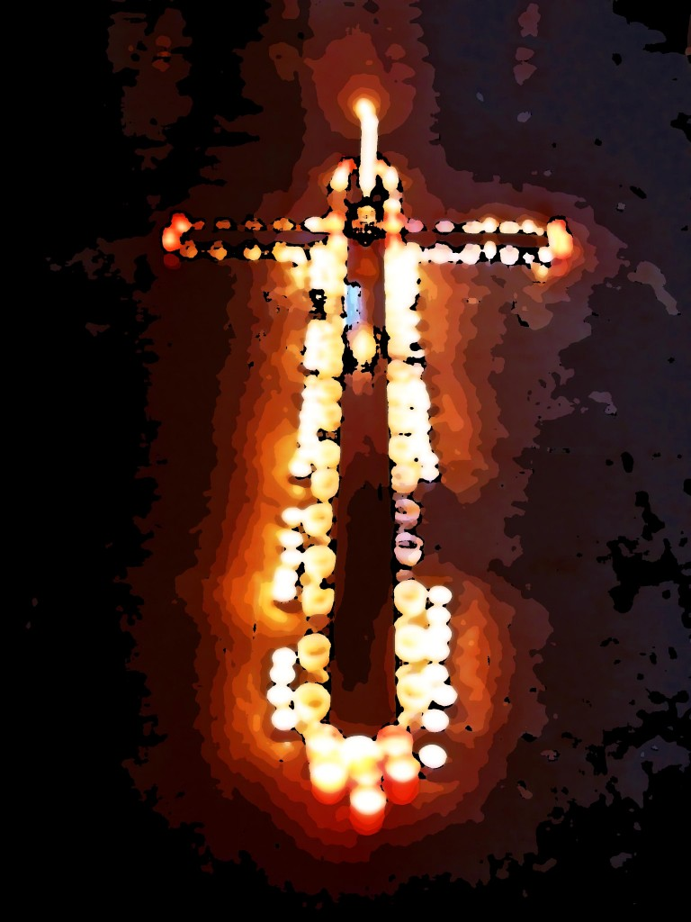 Candles during Holy Week in Sicily, copyright Jann Huizenga