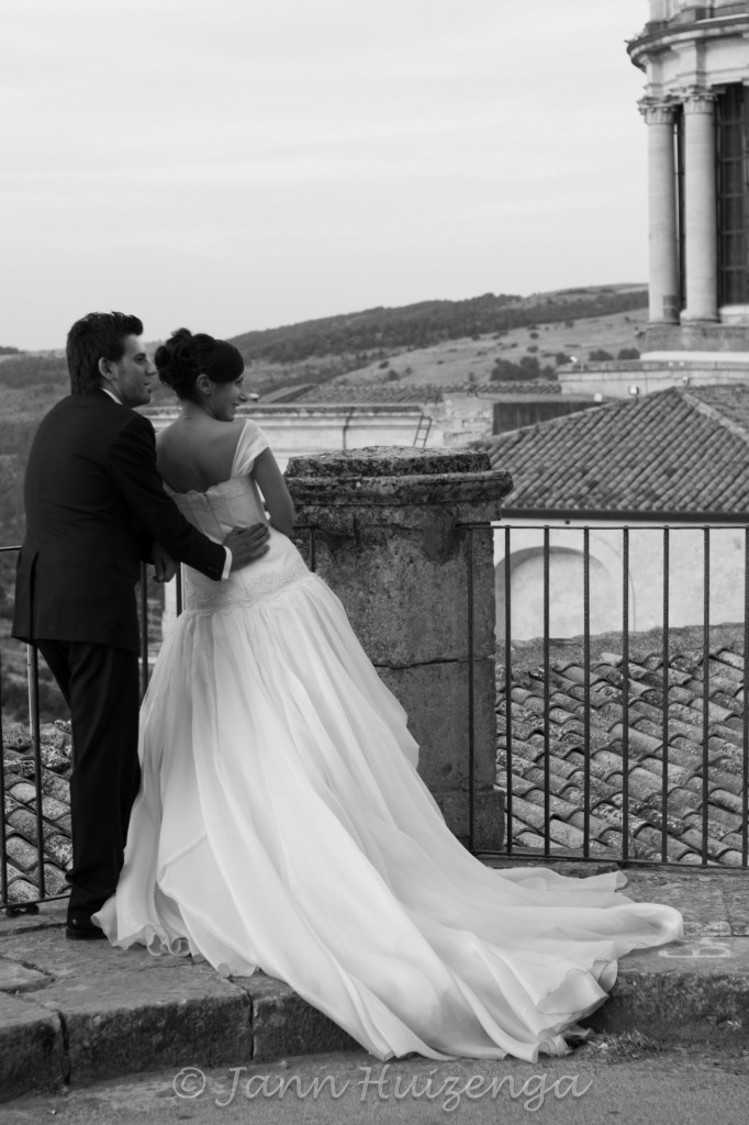 Bride and Groom in Sicily; copyright Jann Huizenga