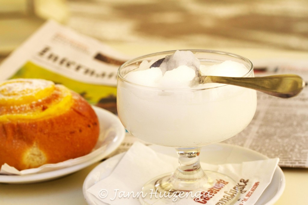 Lemon granita in Sicily, copyright Jann Huizenga