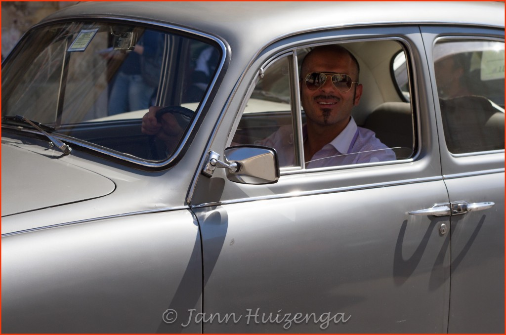 Driving an old Lancia in Sicily, copyright Jann Huizenga