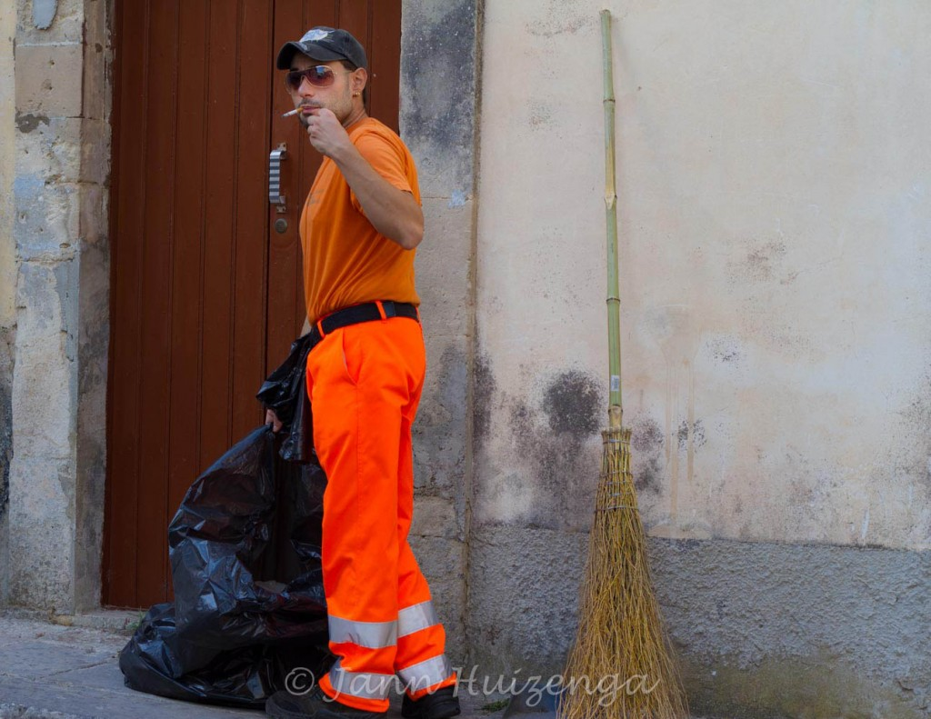 Street Sweeper in Sicily, copyright Jann Huizenga
