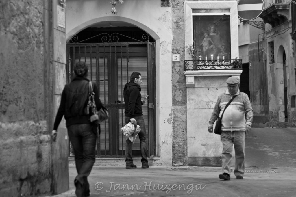 A Street Corner in Siracusa, Sicily, copyright Jann Huizenga