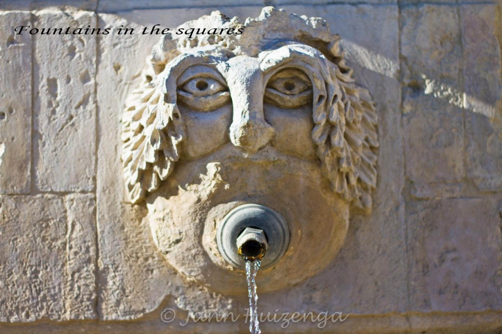 Stone fountain in Southeast Sicily, copyright Jann Huizenga