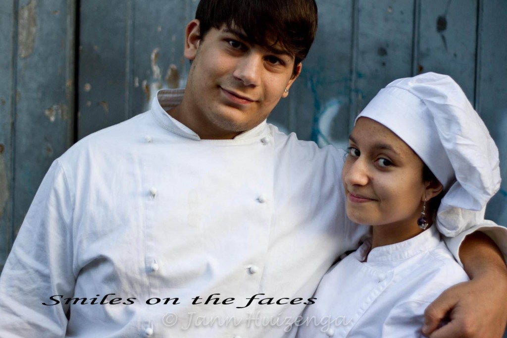 Young chefs-in-training in Catania, Sicily, copyright Jann  Huizenga