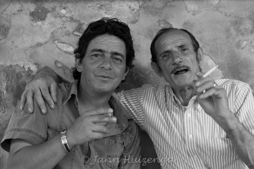 Sicilian friends, copyright Jann Huizenga