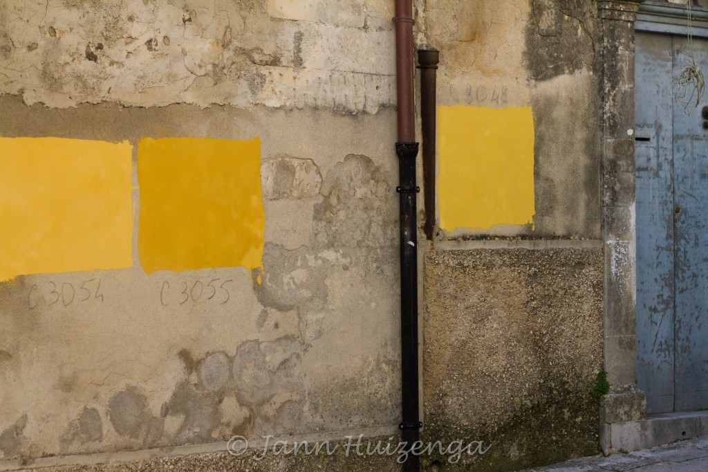 Stripes of Color on Sicilian Wall, copyright Jann Huizenga