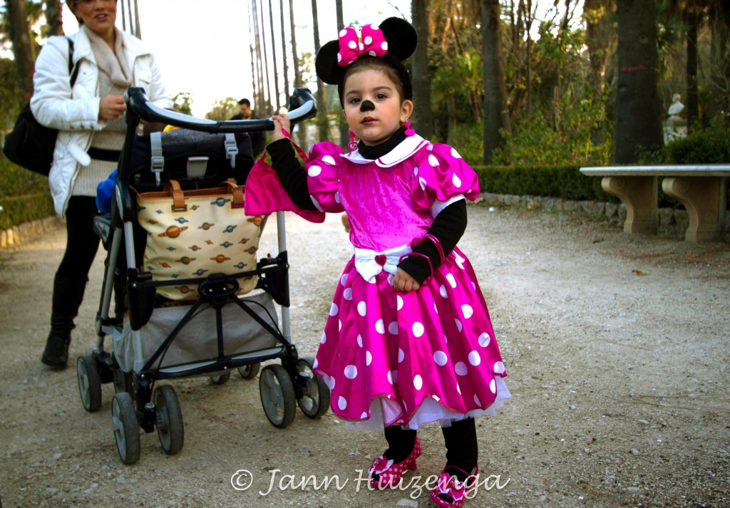 Child Dressed for Carnevale in Palermo, copyright Jann Huizenga