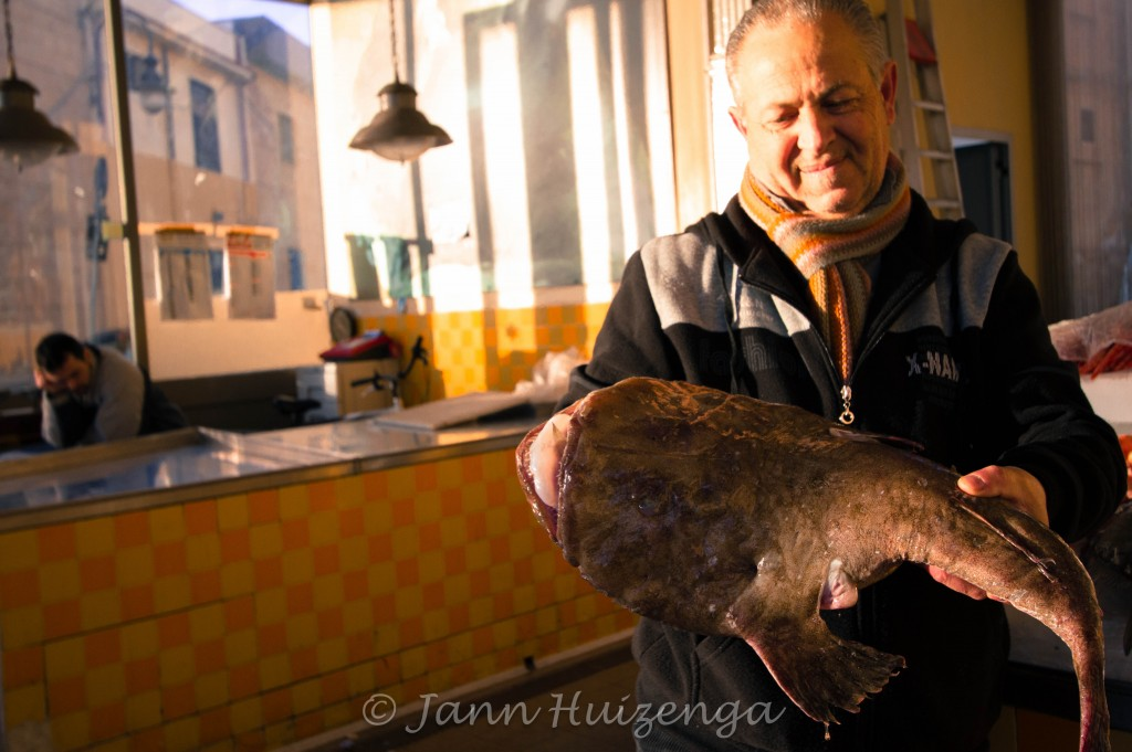 A fisherman at the fish market in Mazara del Vallo, Sicily, copyright Jann Huizenga