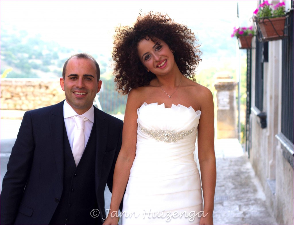 Sicilian Bride and Groom, copyright Jann Huizenga