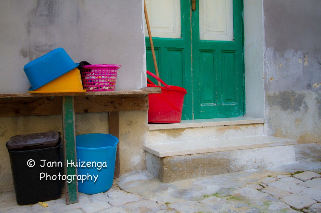Buckets in Sicily, copyright Jann Huizenga
