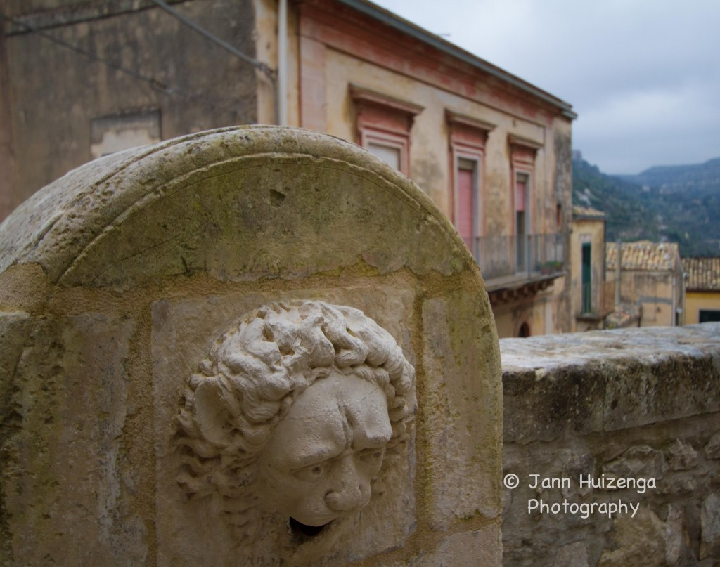 Lion Fountain in Southeast Sicily, copyright Jann Huizenga