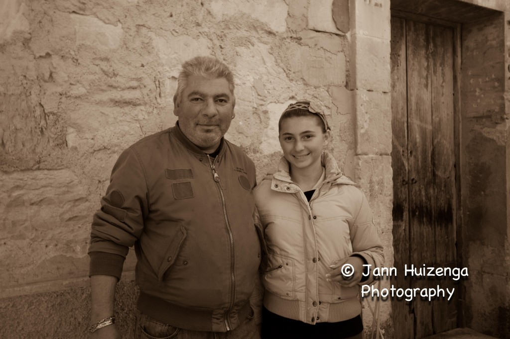 Sicilian Father and Daughter, copyright Jann Huizenga