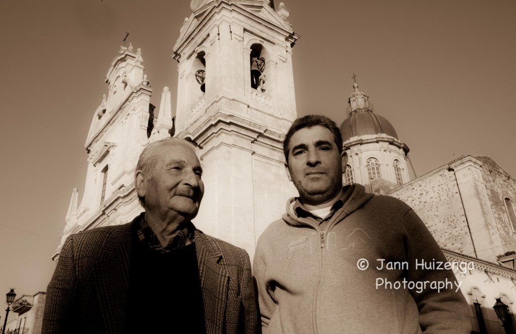Sicilian Father and Son, copyright Jann Huizenga