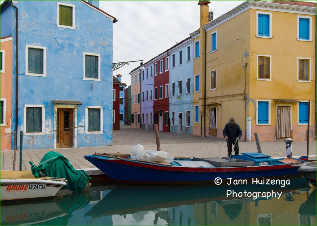 Burano in winter, copyright Jann Huizenga