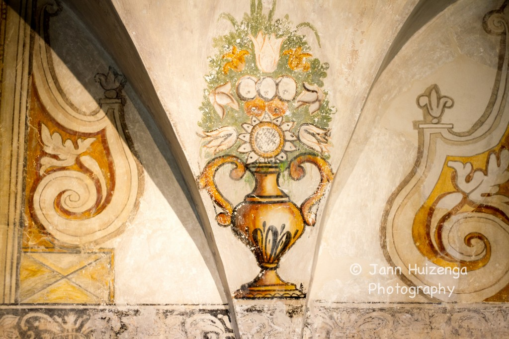 Frescoes at the Nasco Cooking School in Ragusa Ibla, Sicily