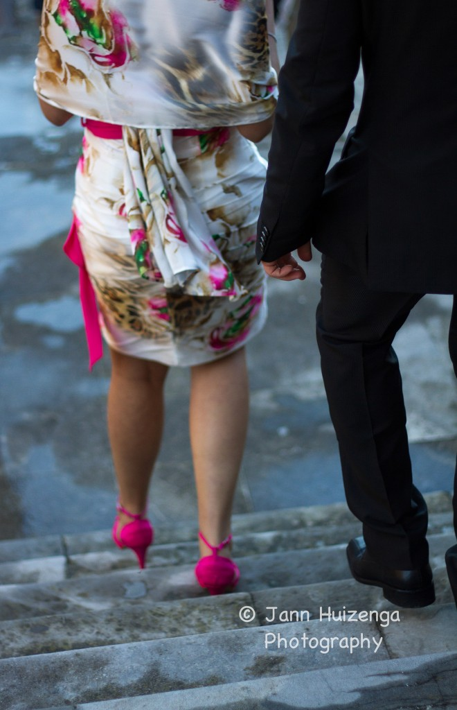 Sicilian Woman in Pink Shoes, copyright Jann Huizenga