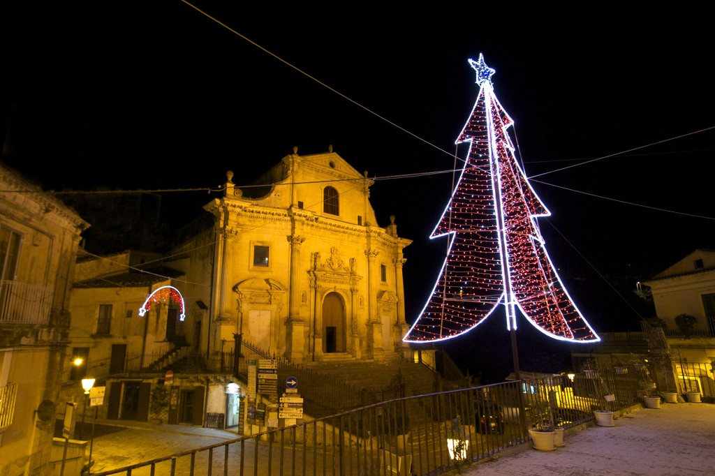 Christmas Lights, Ragusa Ibla, Sicily